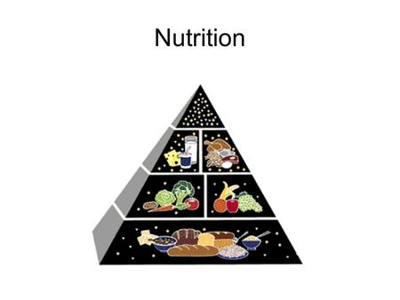 Nutrition. Nutrients Substances in foods that provide energy and materials for cell development, growth and repair Energy: –Every body activity needs.