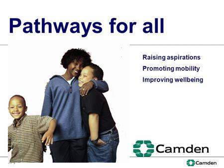 >> 1 Pathways for all Raising aspirations Promoting mobility Improving wellbeing.