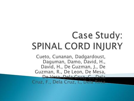 a case study of spinal cord The possibility of using electrical spinal cord stimulation to modulate hemodynamics in isolated vascular beds and/or organs has been investigated in  a case study .