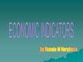 DEFINITION  An economic indicator is a statistic about an economy.  It is a piece of data of macroeconomic scale that is used to interpret the overall.