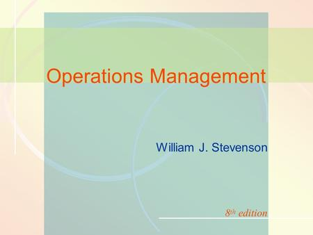 9-1Management of Quality William J. Stevenson Operations Management 8 th edition.