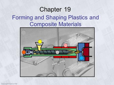 Copyright Prentice-Hall Chapter 19 Forming and Shaping Plastics and Composite Materials.