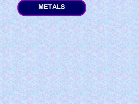 METALS. Introducing metal extraction 1.First, substances other than the metal compound are removed (concentration). 2.Next, the metal itself is extracted.