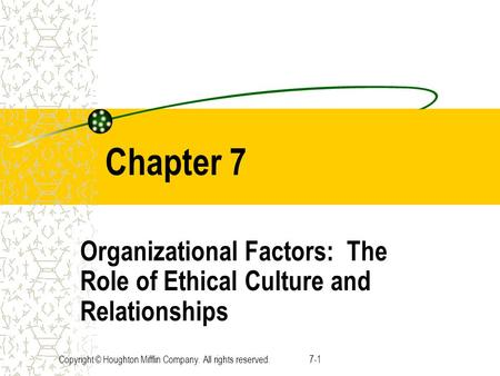 organizational factors the role of ethical Ethical role of the manager ethical leadership the ethical role of managers managers need to take several factors into consideration as they weigh.