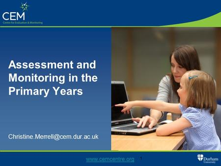 1 Assessment and Monitoring in the Primary Years