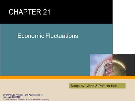 ECONOMICS: Principles and Applications 3e HALL & LIEBERMAN © 2005 Thomson Business and Professional Publishing Slides by: John & Pamela Hall Economic Fluctuations.