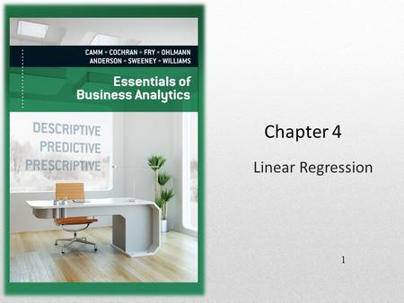 Chapter 4 Linear Regression 1. Introduction Managerial decisions are often based on the relationship between two or more variables. For example, after.