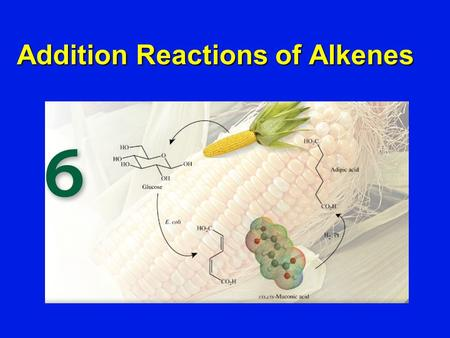Addition Reactions of Alkenes. The most characteristic reaction of alkenes is addition to the double bond. Addition Reactions of Alkenes.