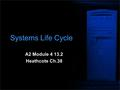 Systems Life Cycle A2 Module 4 13.2 Heathcote Ch.38.