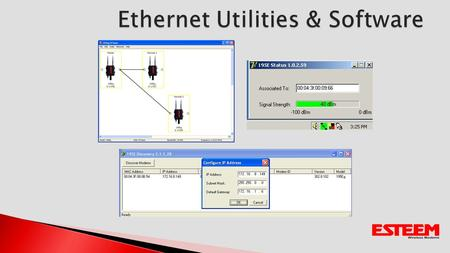 Designed to configure regardless of IP address on computer Will display 195E by Ethernet MAC address Configures IP Address to 195EUpdate FirmwareOpen.