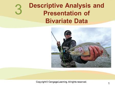 1 Copyright © Cengage Learning. All rights reserved. 3 Descriptive Analysis and Presentation of Bivariate Data.