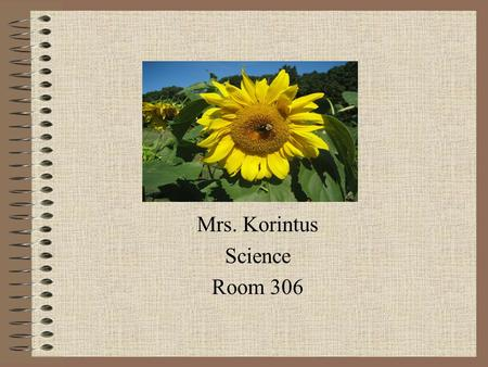Mrs. Korintus Science Room 306. Class Rules Be on time. Please be in your assigned seat and ready to work when the bell rings.