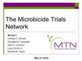 The Microbicide Trials Network Group 3 Lindsay O. Bryant Danielle M. Campbell Alan D. Johnson Leroy Smith Jr. Kendra M. Taylor May 31, 2016.