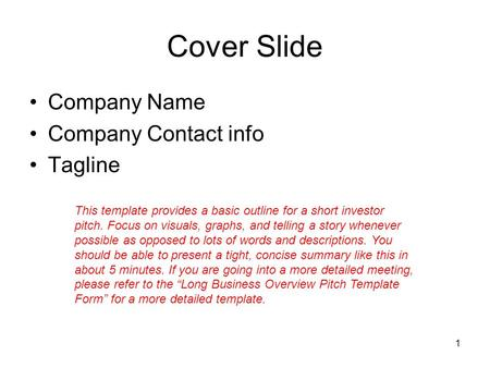 Business plan title and subtitle