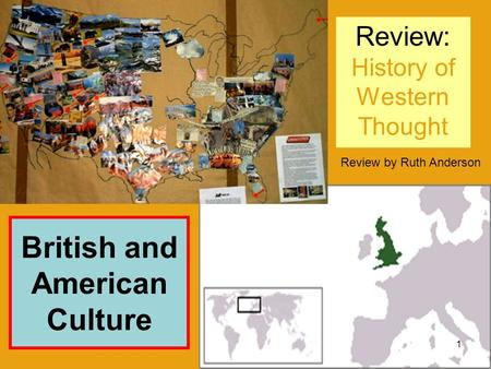 Review: History of Western Thought Review by Ruth Anderson British and American Culture 1.