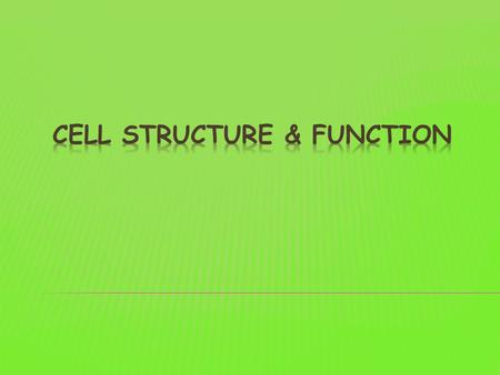  The cell theory is a fundamental concept in biology. It states:  All living things are composed of cells.  The cell is the basic structural unit of.