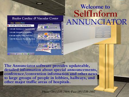 Our Annunciator Program Is the Most Effective Tool Available for Displaying Information to Large Groups. Annunciator Is... Fast & Easy To Use - By simply.
