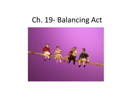 Ch. 19- Balancing Act. Priorities- things most important Maintaining balance – Take charge of time – How do you use your time? Learning: – Get more out.
