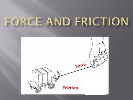 Force Friction.  What is a force? A force is a push or pull exerted on an object to change the motion of an object.  What 2 things do all forces have?