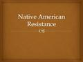  Indian Resistance  Hundreds of battles, wars, and massacres took place on the Plains between 1865-1890 in an effort to resist reservations and preserve.