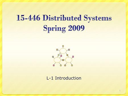 L-1 Introduction 1. Today's Lecture Administrivia Example topics 2.