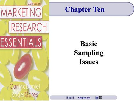 Chapter Ten Basic Sampling Issues Chapter Ten. Chapter Ten Objectives To understand the concept of sampling. To learn the steps in developing a sampling.
