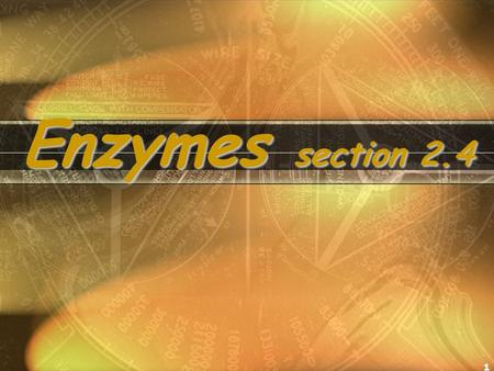 1 Enzymes section 2.4. 1. A chemical reaction is the process of making or breaking the chemical bonds that link atoms. 2. When the bonds are broken, energy.