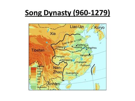Song Dynasty (960-1279). Reunified China after 60 years Skillful government established a central bureaucracy.
