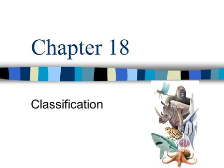 Chapter 18 Classification. Every year, thousands of new species are discovered Biologists classify them with similar organisms The ways we group organisms.