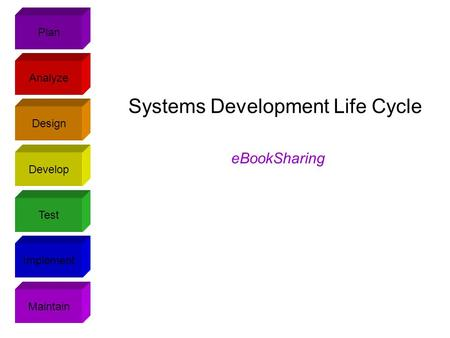 Plan Design Analyze Develop Test Implement Maintain Systems Development Life Cycle eBookSharing.