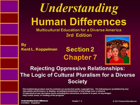 © 2011 Pearson Education, Inc © 2011 Pearson Education, Inc Understanding Human Differences 3rd Edition - Koppelman Chapter 7 - 0 Section 2 Chapter 7 Rejecting.