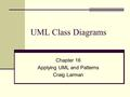 UML Class Diagrams Chapter 16 Applying UML and Patterns Craig Larman.