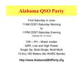 1 Alabama QSO Party First Saturday in June 11AM CDST-Saturday Morning to 11PM CDST-Saturday Evening Operate full 12 hours CW – PH – Mixed modes QRP, Low.
