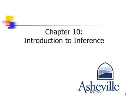 1 Chapter 10: Introduction to Inference. 2 Inference Inference is the statistical process by which we use information collected from a sample to infer.