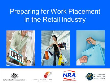 Preparing for Work Placement in the Retail Industry.