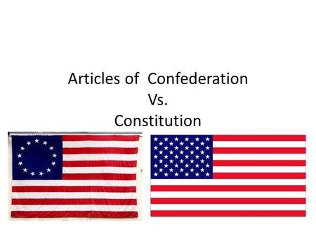 Articles of Confederation Vs. Constitution. Levying Taxes Articles Congress could not request states to pay taxes. Constitution Congress has right to.