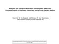 Analysis and Design of Multi-Wave Dilectrometer (MWD) for Characterization of Planetary Subsurface Using Finite Element Method Manohar D. Deshpande and.