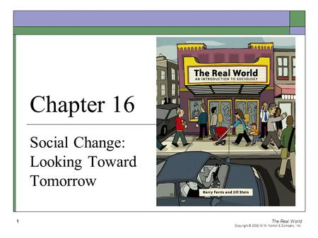 The Real World Copyright © 2008 W.W. Norton & Company, Inc. 1 Chapter 16 Social Change: Looking Toward Tomorrow.