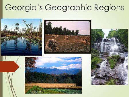 Georgia's Geographic Regions. What makes a region?  A region can be defined by common characteristics that are usually- cultural, human or physical 