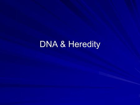 DNA & Heredity. Vocabulary Fertilization-male and female reproductive cells join Dominant trait- the gene that shows Recessive trait- the gene that doesn't.