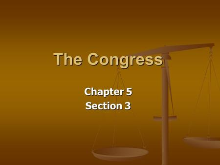 The Congress Chapter 5 Section 3. Nullification Nullification- The belief that states had the right to nullify (disregard) laws passed by the national.