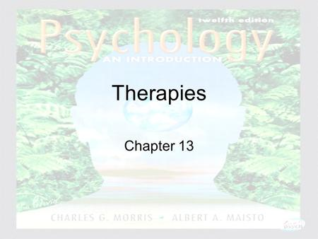 Psychology: An Introduction Charles A. Morris & Albert A. Maisto © 2005 Prentice Hall Therapies Chapter 13.