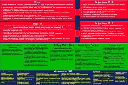 "6 Key Priorities A ""scorecard"" for each of the 5 above priorities with end of 2009 deliverables – with a space beside each for a check mark (i.e. complete)"