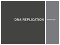 Chapter 16 DNA REPLICATION. REVIEW: HISTORY & STRUCTURE.