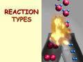 REACTION TYPES A quick review… Evidences of a chemical change: a.Production of light, heat, sound b.Absorption of heat (container gets cold) c.New color,