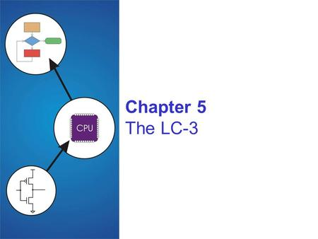 Chapter 5 The LC-3. 5-2 Instruction Set Architecture ISA = All of the programmer-visible components and operations of the computer memory organization.