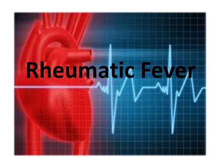 Rheumatic Fever. Rheumatic fever is an inflammatory disease that may develop after an infection with Streptococcus bacteria (such as strep throat or scarlet.