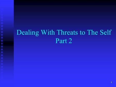 1 Dealing With Threats to The Self Part 2. 2 Motivated reasoning The tendency to interpret information in a way that favors pre-existing beliefs and desires.