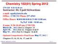 13-1 CHEM 102, Spring 2012, LA TECH CTH 328 9:30-10:45 am Instructor: Dr. Upali Siriwardane   Office: CTH 311 Phone 257-4941 Office.