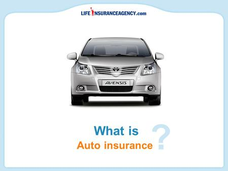 Auto insurance What is ?. Auto insurance provides a measure of financial protection in the event of a car accident.